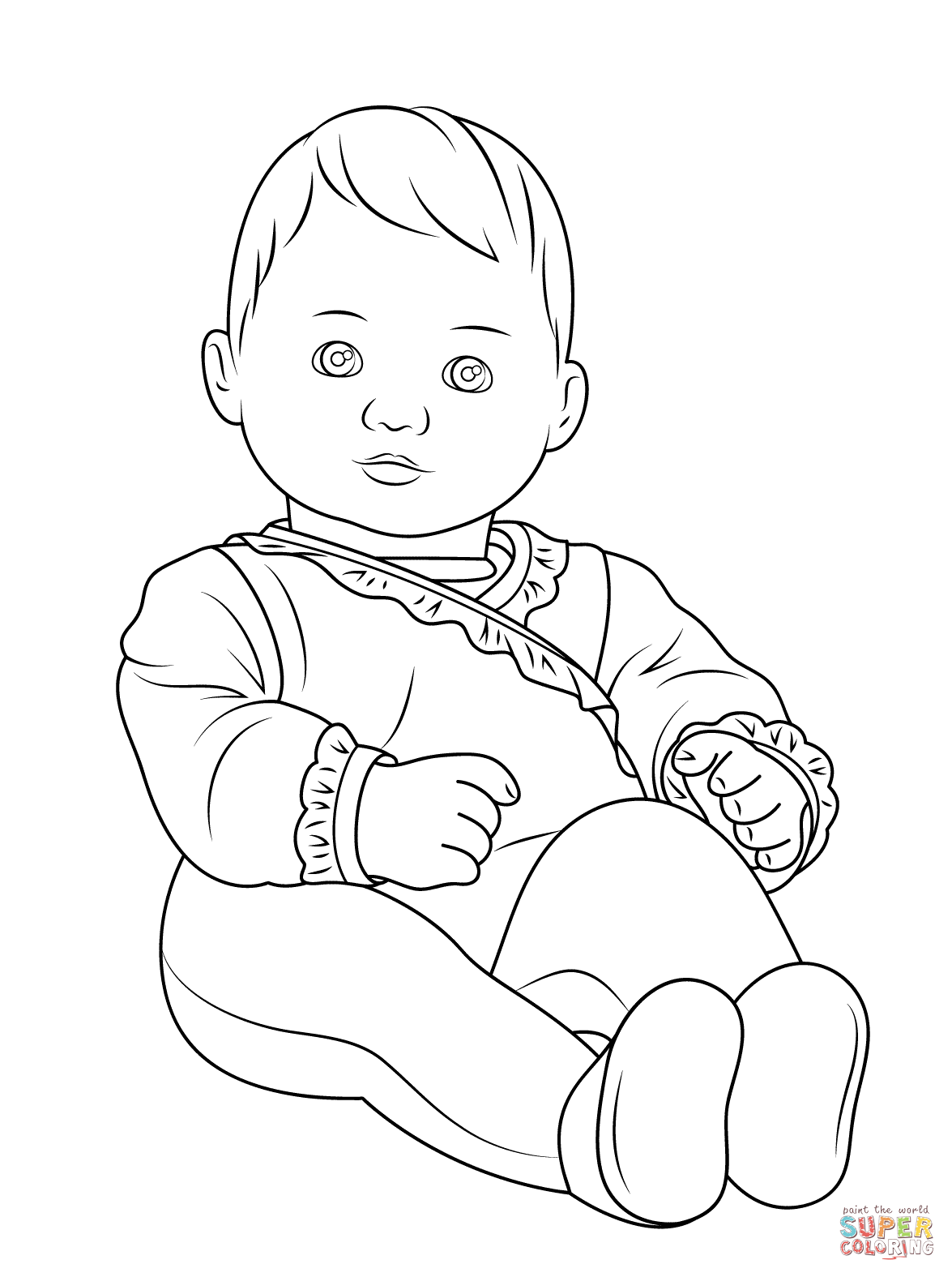 Little Girl Coloring Pages Printable
