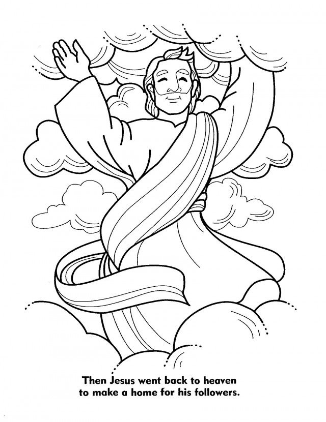 jesus in heaven coloring page coloring pages