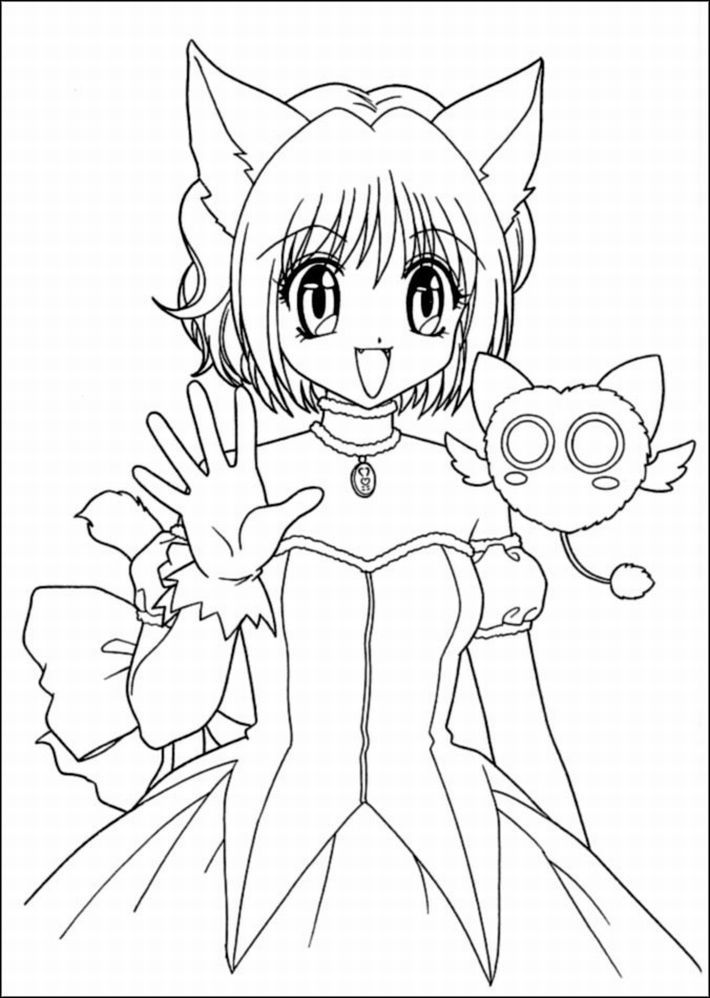 anime girl coloring pages for kids coloring pages