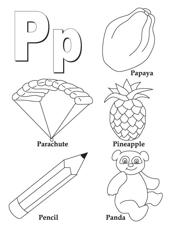 my a to z coloring book letter p coloring page download free my