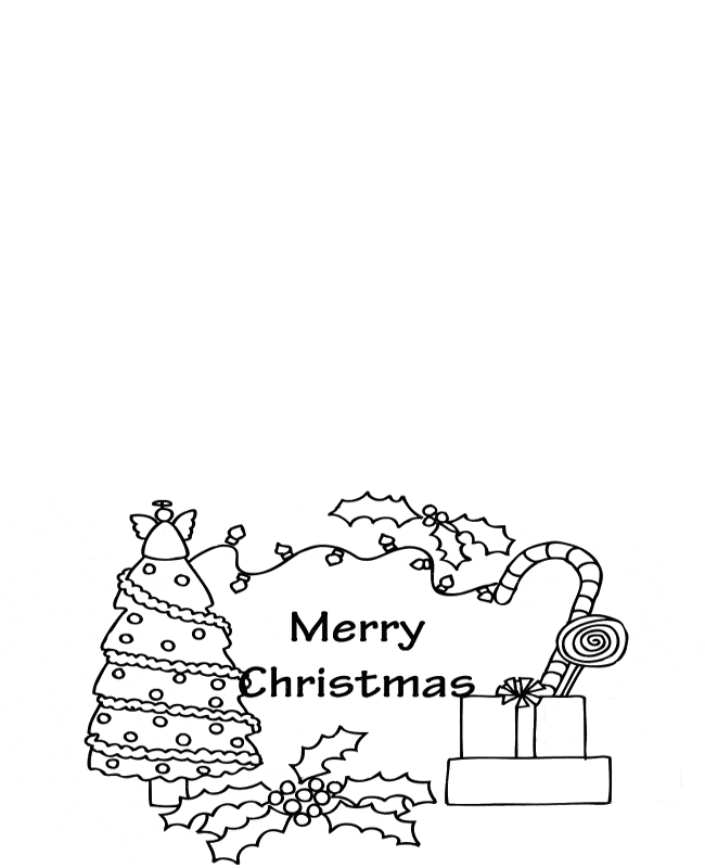 christmas cards for kids to color az coloring pages