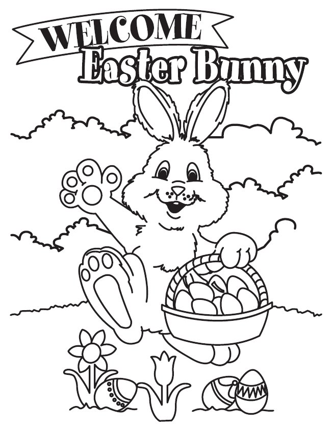 easter rabbit coloring pages az coloring pages