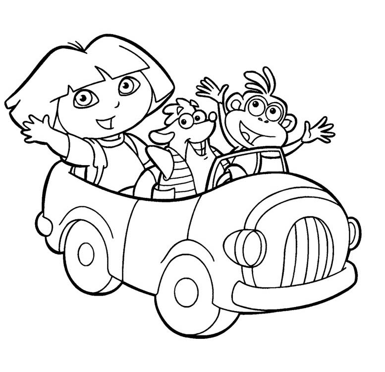 and print these dora coloring pages for free dora coloring pages