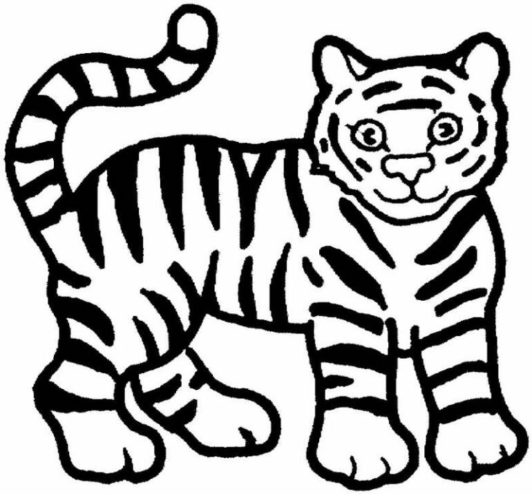 cute tiger coloring pages az coloring pages