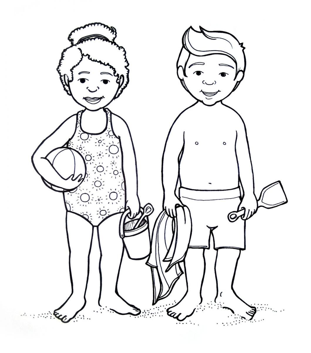 Preschoolers Coloring Pages Of The Human Body