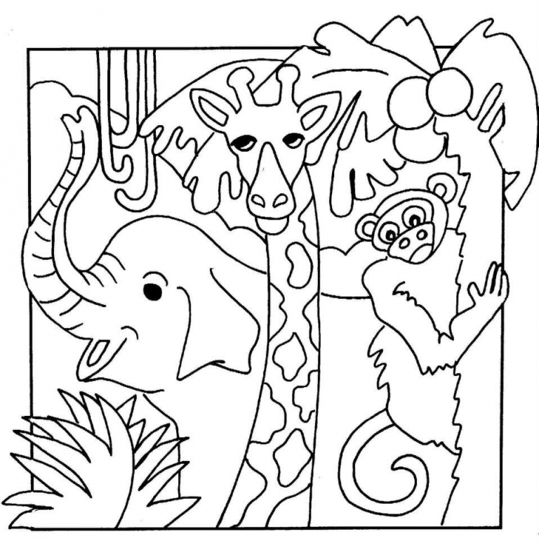 jungle animals coloring pages to print online coloring pages