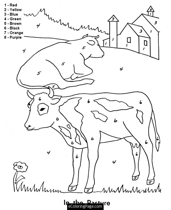 barn animals colouring pages