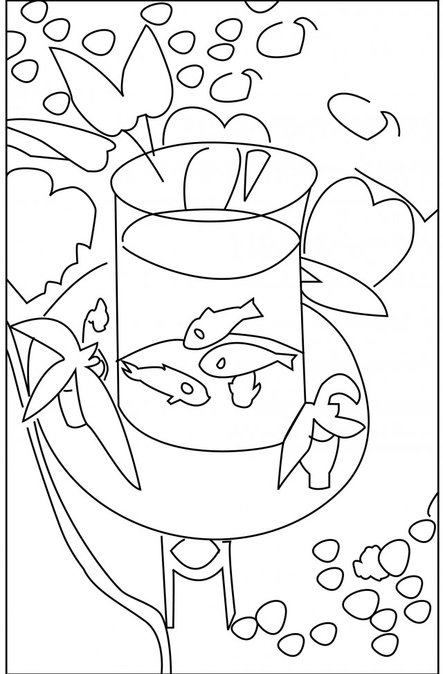 fish bowl coloring page az coloring pages