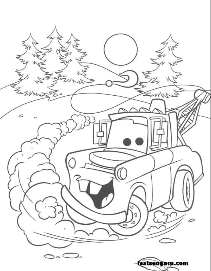 tow mater coloring pages free az coloring pages