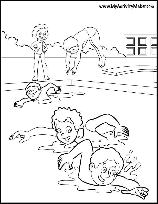 swimming color pages az coloring pages