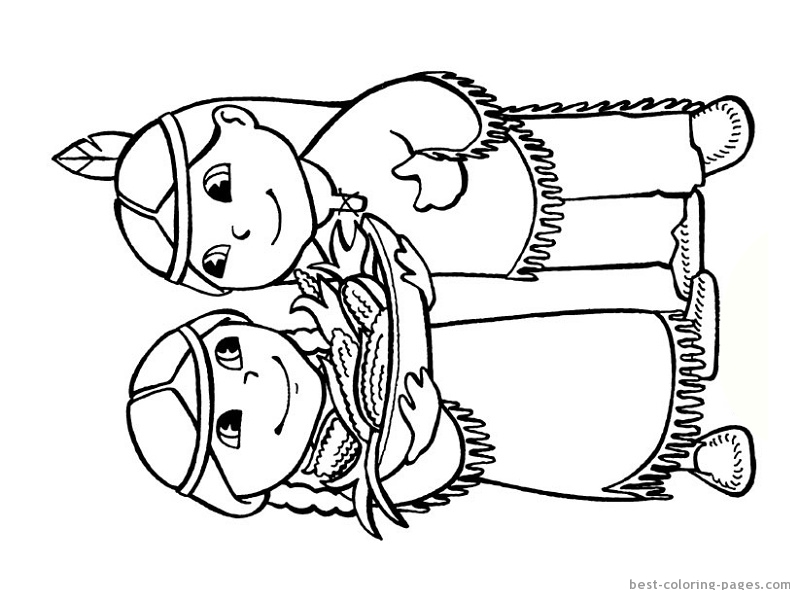 free printable coloring image Indian Coloring Page 06 | Coloring ... | 600x800