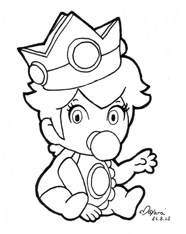baby princess peach coloring pages az coloring pages