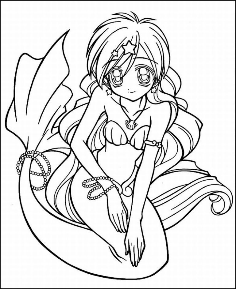 anime mermaid coloring pages az coloring pages