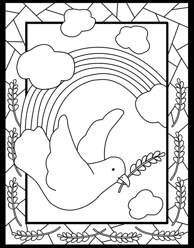 Peace Sign Coloring Pages Ideas - Whitesbelfast | 790x618