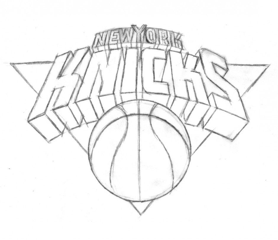 knicks coloring nba logo coloring pages kids coloring pages 241159