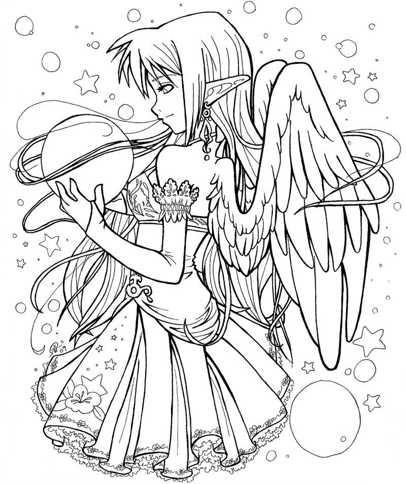 anime 6 jpg colouring pages