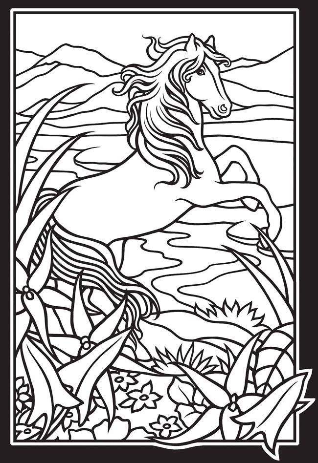 Wild Horse Coloring Pages Coloring Home
