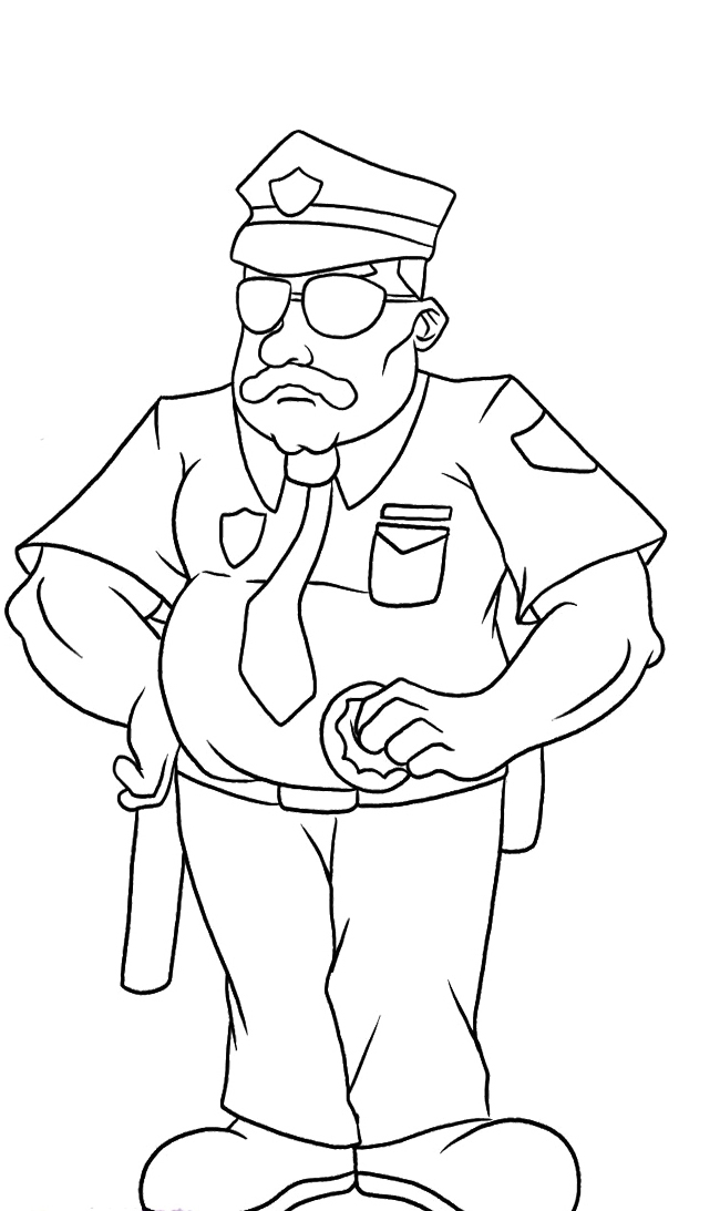 police hat coloring page policeman coloring page