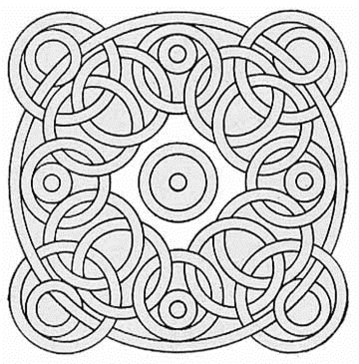 coloring pages of geometrical pattern free coloring pages