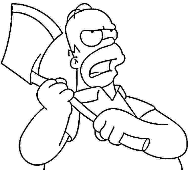 the simpsons coloring pages to print az coloring pages
