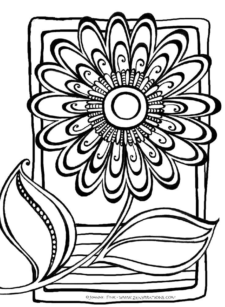 abstract flower coloring pages 436 free coloring pages for kids