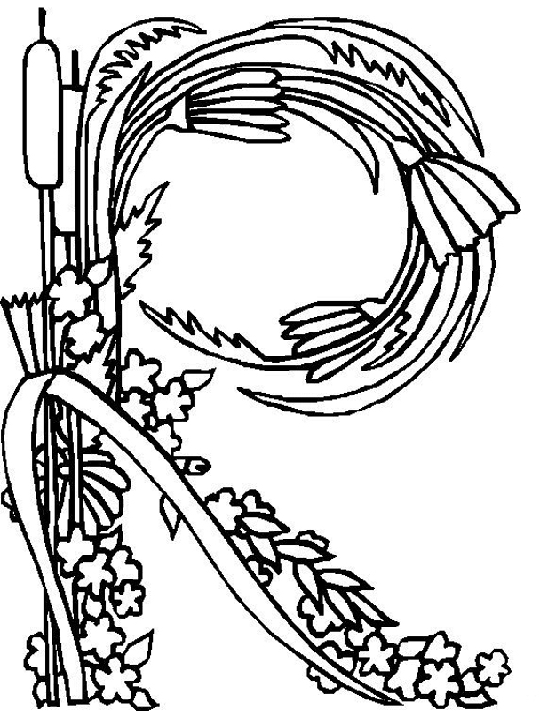 alphabet flower r coloring pages free printable coloring pages