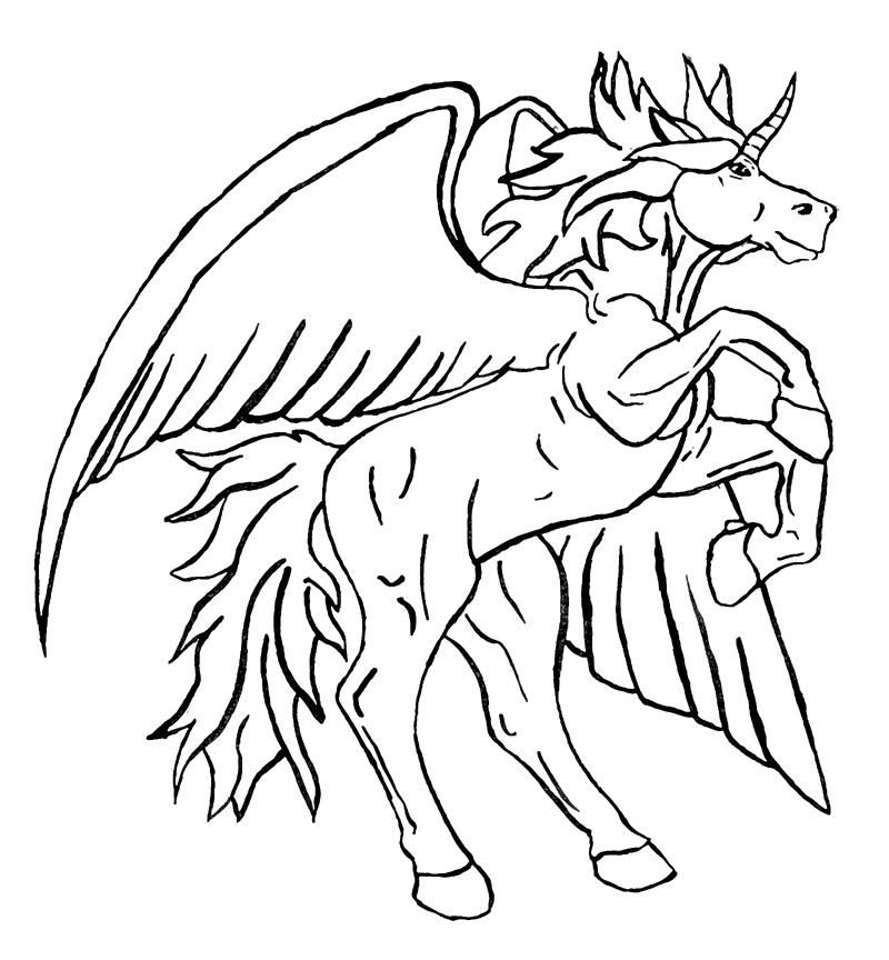 Free Unicorn Pegasus Coloring Pages, Download Free Clip Art, Free ... | 864x800
