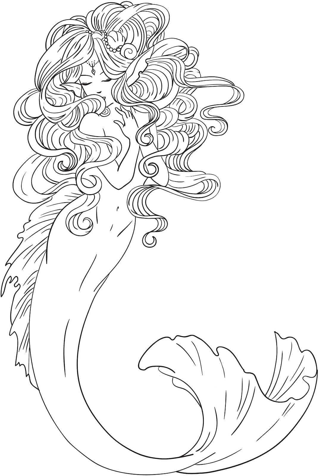 mermaid coloring pages for adults aaldtk