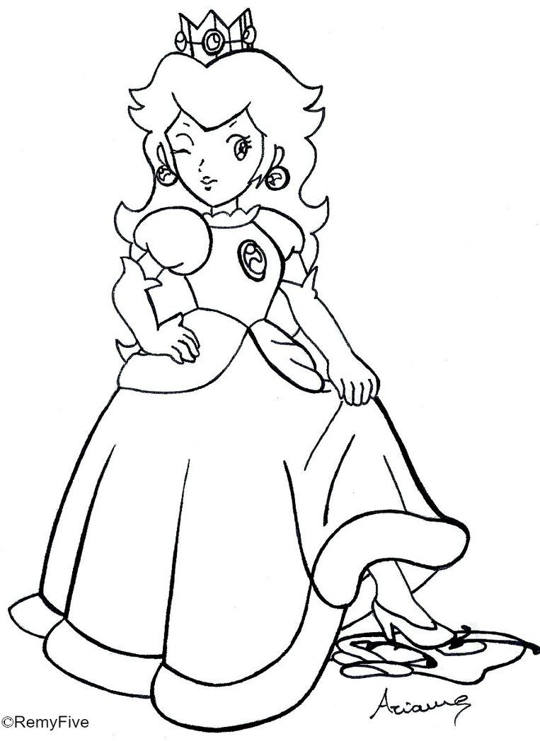 rosalina peach and daisy coloring pages az coloring pages - Rosalina Peach Coloring Pages