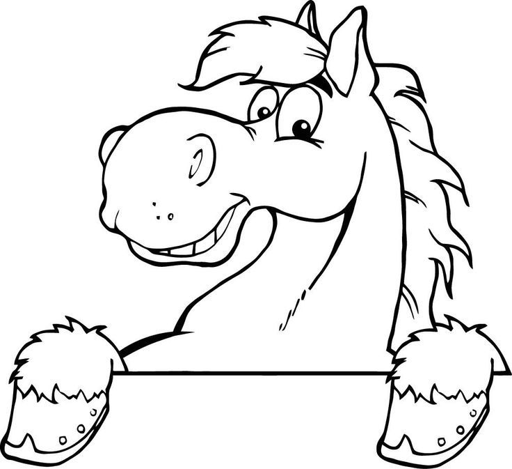 coloring pages horses heads ribbon print az coloring pages