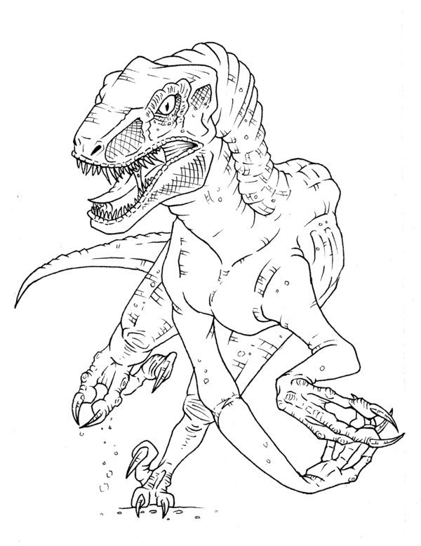 Velociraptor Coloring Pages AZ Coloring Pages
