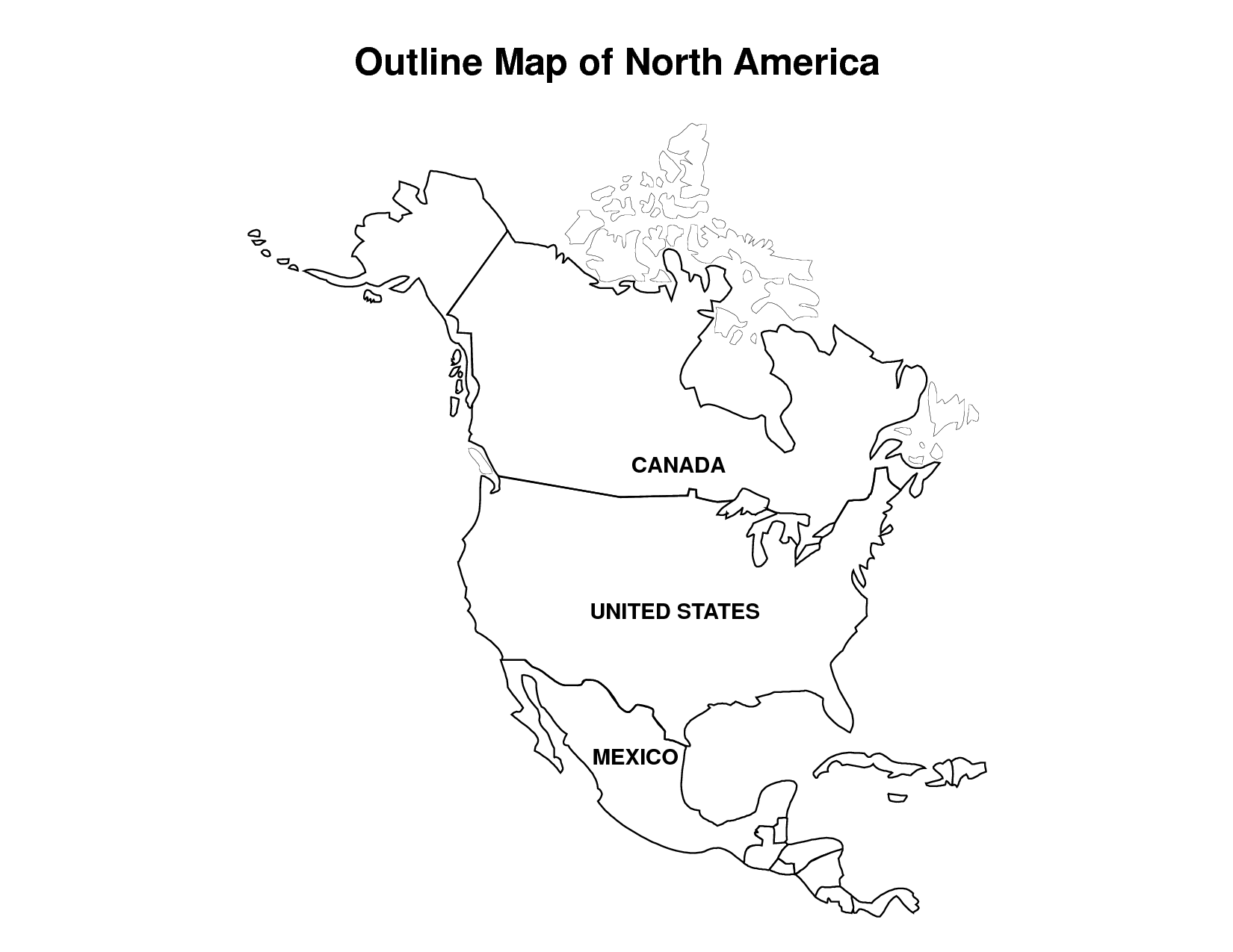 north america coloring page az coloring pages