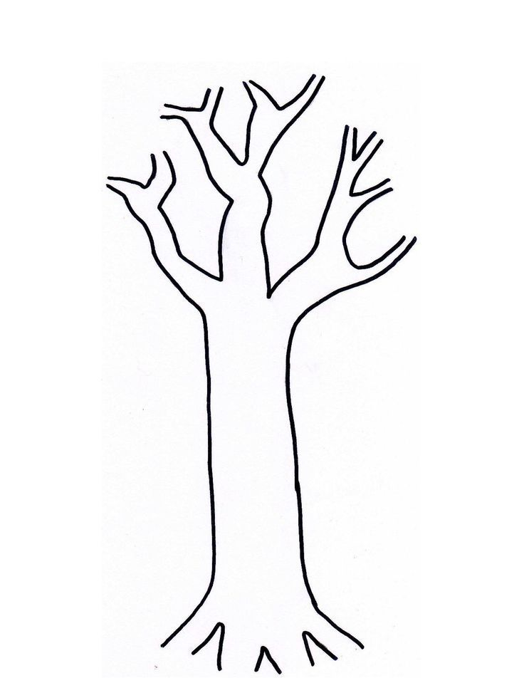 bare fall tree coloring page az coloring pages