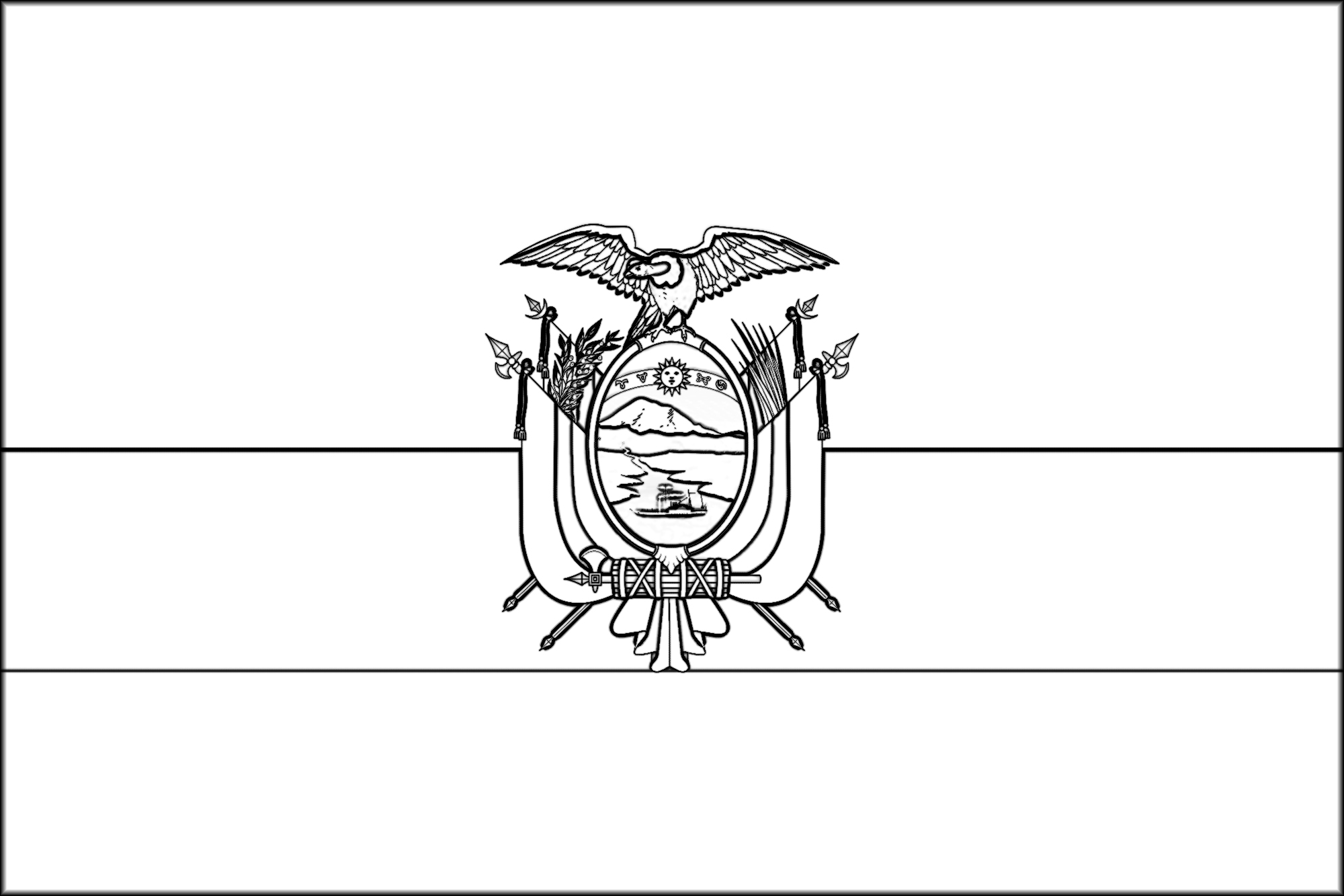 Bolivia Flag Coloring Pages