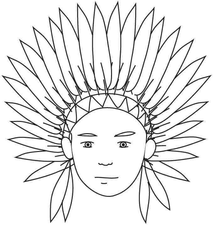 printable indian coloring pages az coloring pages