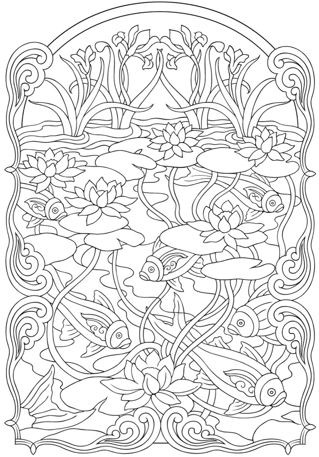 art nouveau coloring pages az coloring pages