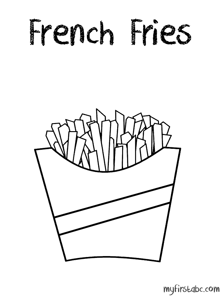 french fries coloring page az coloring pages