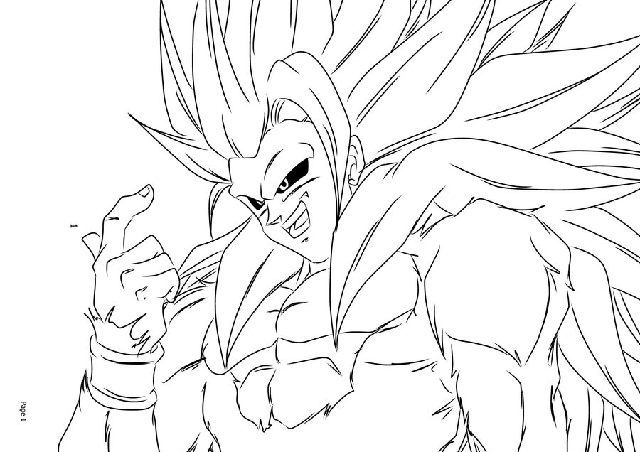 dragon ball z coloring pages super saiyan 5 coloring pages now