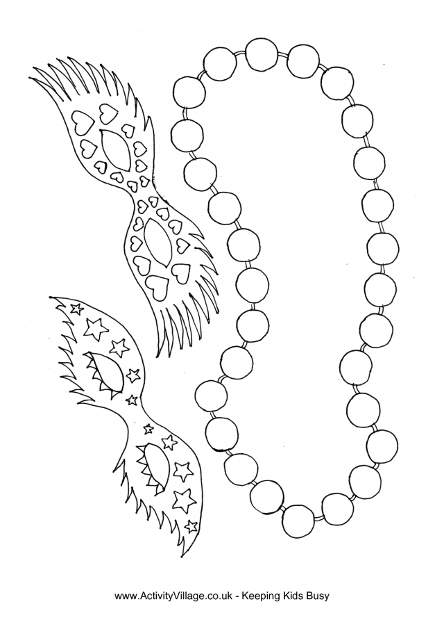 Printable Mardi Gras Coloring Pages For Kids | 905x640