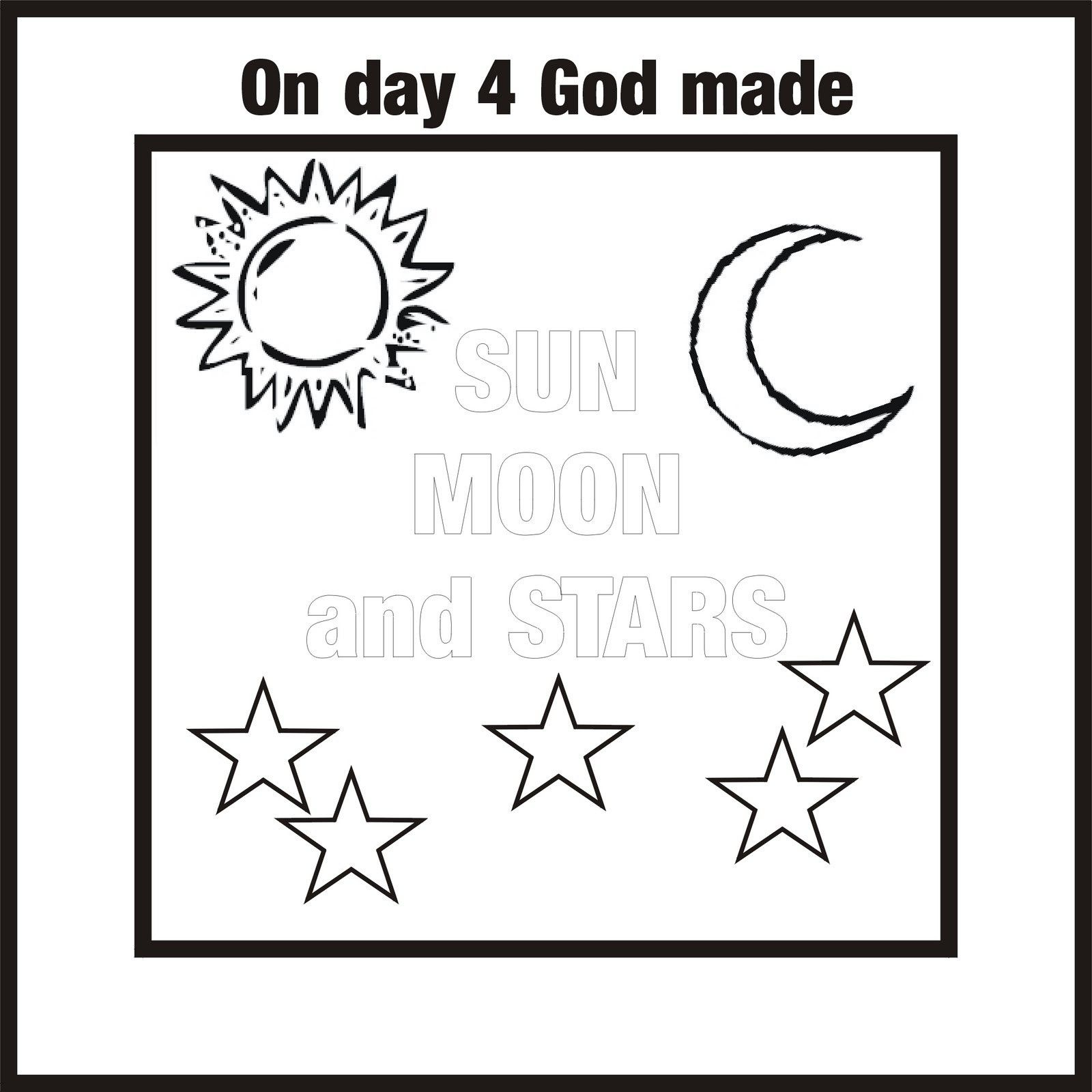 7 days of creation coloring pages az coloring pages