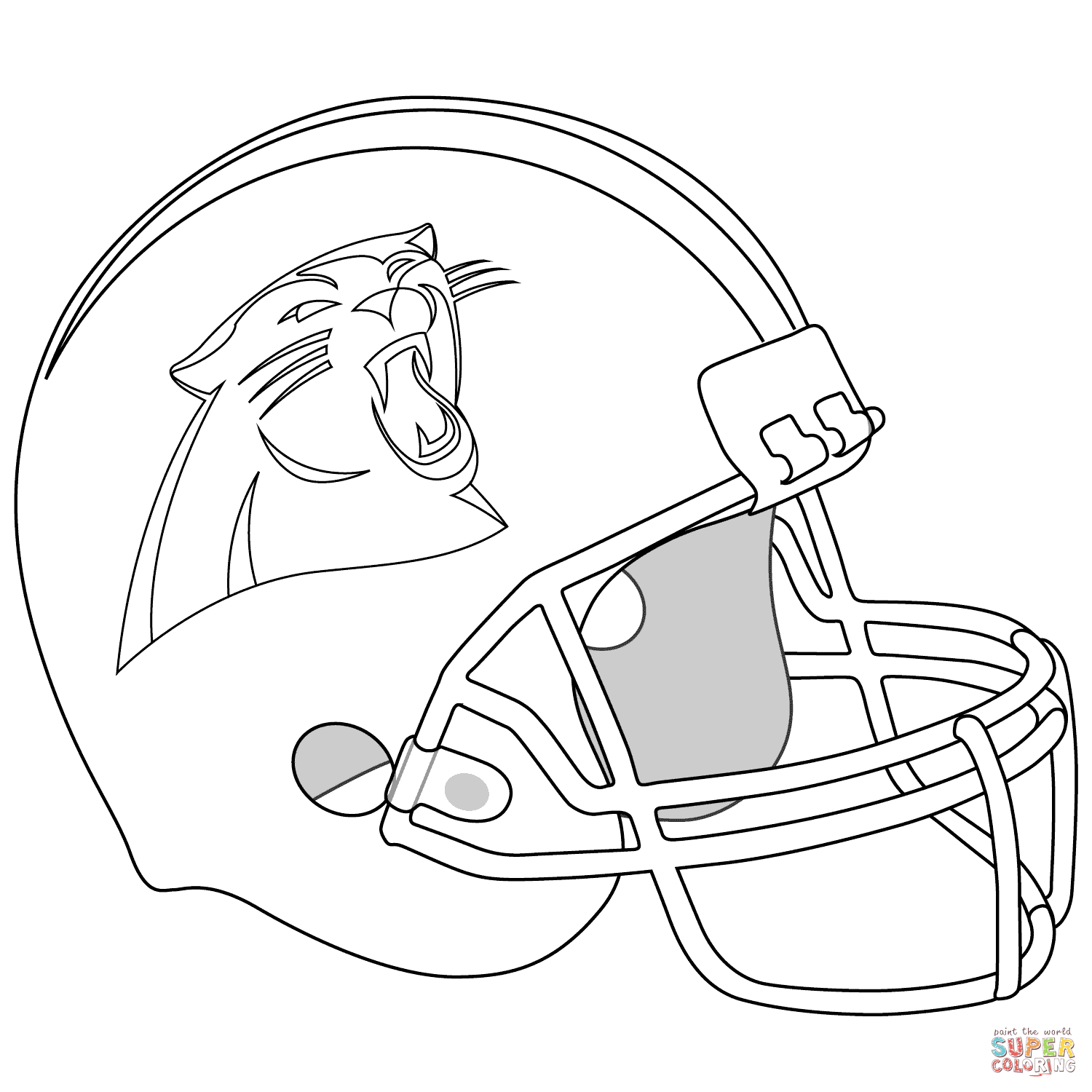 Carolina Panthers Coloring Pages Coloring Home