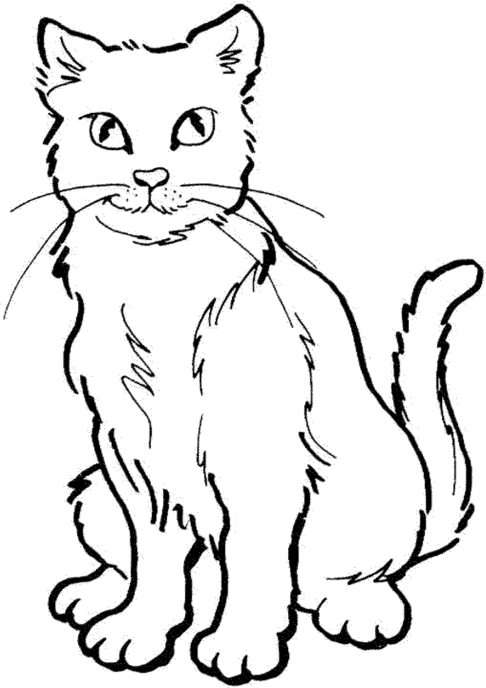 coloring pages of cat az coloring pages