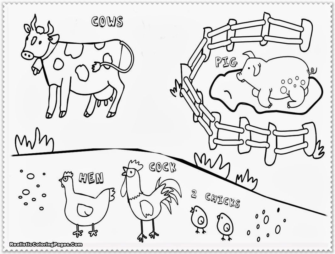 farm animals coloring pages for kids printable az coloring pages