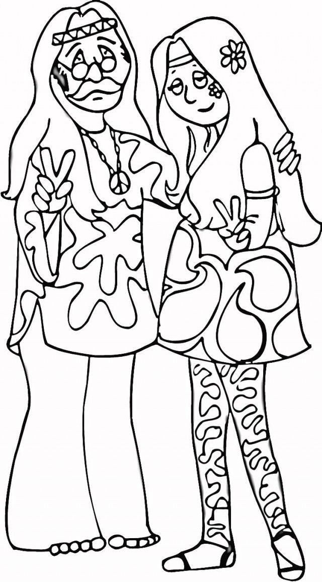 Free Cool Hippie Coloring Pages, Download Free Clip Art, Free Clip ... | 1155x640