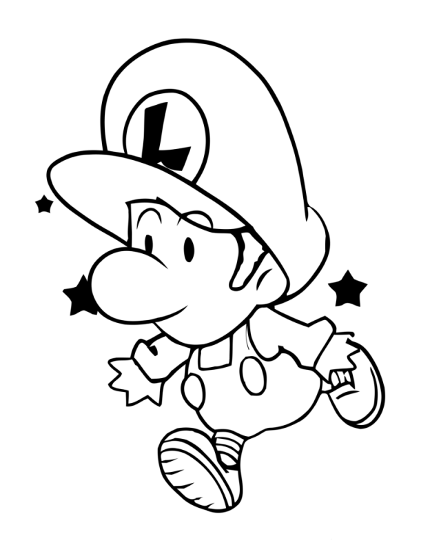 baby mario and baby luigi coloring pages az coloring pages