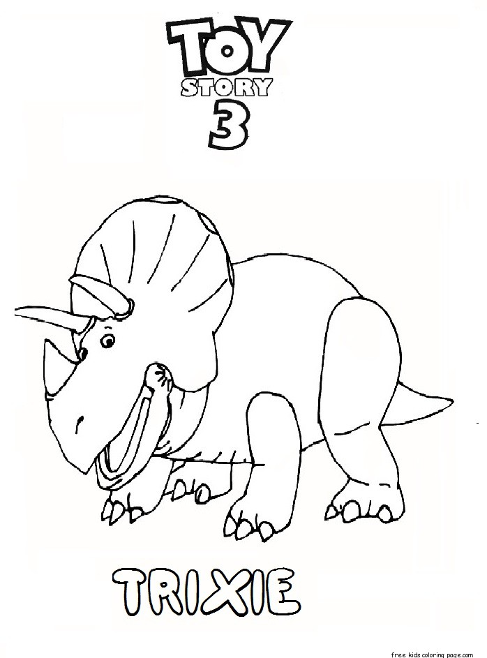 Print Out Toy Story 3 Trixie Coloring Pages Free