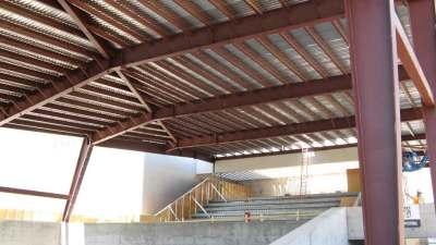 Arizona Science Center new shade cover over walkway