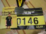 Finisher Photo w/Bib and Medal