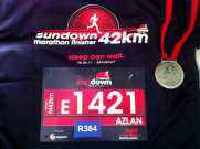 Finisher Medal with Bib