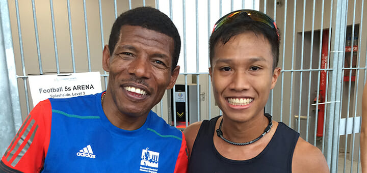 A moment with Haile Gebrselassie